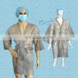 Nonwoven Kimono Disposable for SPA use with short sleeve /PP Beauty robe