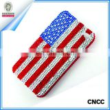 Custom Cell Phone Rhinestone Sticker American Flag Sticker
