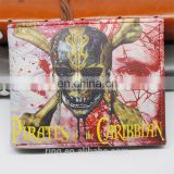 Pirates of the Caribbean Men's Wallets money clip wallet PU purse for men women wallet