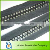 Double Rows Crystal Rhinestone zippers Wholesale