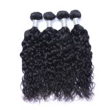 300g 8A Indian Water Wave Hair Bundles 100% Unprocessed Indian Hair Weave Wefts