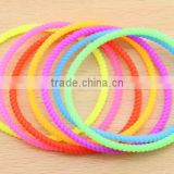Silicone Bracelet Woman Wristband Hand mosquito repellent neon luminous Elastic Hair Band                                                                         Quality Choice