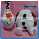 Mini Qute new 38 cm Kawaii cartoon stuffed plush Frozen doll princess anna & elsa Creative Disconnect Head olaf kids gift toy