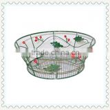antique decorative iron metal basket for home decoration