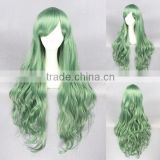 wholesale 80CM long green Lolita wave women fashion synthetic hair party wig