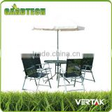 Folding metal bistro table chair set