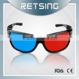 2015 New Arrival Acrylic Lens Anaglyphic Red Blue Cyan 3D Glasses Watching 3D 4D TV PC Movie Game