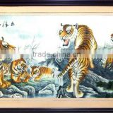 wooden frame art of suzhou traditional handmade embroidery on silk fabric