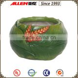 13.5 cm green fiberglass banana leaf planter pot,home&garden flower pot
