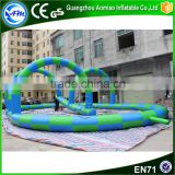 Popular inflatable go karts race track,inflatable track race for zorb ball game