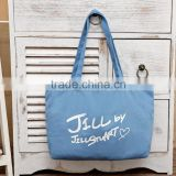 2016 new product cotton canvas folding shopping bag online shopping lady's handbag eco friendly tote shopping bag