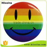 Wholesale Cheap Custom Printing Pride Happy Face Round Button Badge 50mm                                                                         Quality Choice