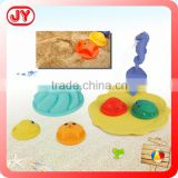 Wholesale summer series toy plastic mini sand castle molds toy