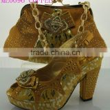 ME0096 coffee african high heel shoes match high quality bags fashion wedding shoes match fashion bags.