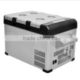 A 25L 12V/24V Portable Mini Car Fridge Freezer For Car And Motorcycle