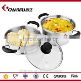 Charms induction cooker stainless steel steamer pots
