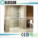 10mm hinge glass frameless plastic folding shower screen bath room doors