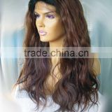 #32 22 inches Loose curl human hair front lace wig accept customer order