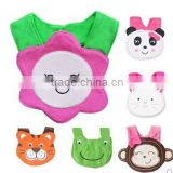 cheap and high quality baby bib/colorful and cute plush baby animal bib/promotional baby bib