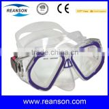 Sea Tempered Glass Diving Mask with CE Certificates and Auto-clip Buckle System                                                                         Quality Choice