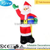DJ-164 8 foot christmas santa outhouse inflatable garden decoration with led light