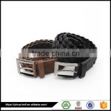 Black and brown braided rope belt for men