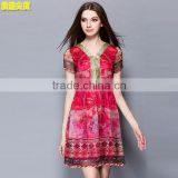 Shu - US Chou silk printed and sequin embroidered high quality ladies bodycon party dress
