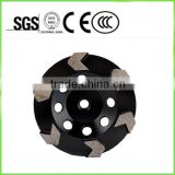 "7inch 5/8""-11 with six arrow segments diamond grinding wheels meal cutting wheel for concrete"