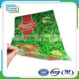 Plastic Frozen Food Packaging Bags for Cream Meat/Seafood with Hanger/Customized Packaging Bag for Frozen Food