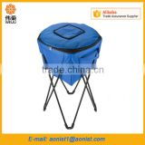 High Quality polyester beach folding cooler bag with stand promotional                                                                                                         Supplier's Choice
