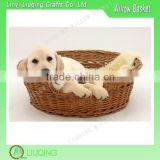 Chinese Folk Art Handmade Wicker Pet Basket Willow Basket For Dog Bed