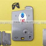 Hot Sale Renault key card for 2 button keyless smart card case Renault Laguna blank key card
