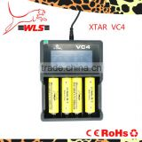 XTAR VC4 premium USB charger! Creative LCD screen with CC instruments design! Charger can test the capacity of battery!