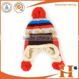 Best selling pom pom knitted beanie hat with custom label                                                                                                         Supplier's Choice