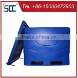 Fish carrier cooler for storage, extra-large insulated fish bin, plastic container for holding fish