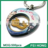 China Maker custom made euro token printing metal key holder