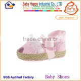 wholesale handmade pink zebra lace fancy beautiful soft sole comfortable dress baby girl shoes