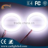 Hot sale 80mm 12v auto cob led white fog halo circle rings angel eyes car led light lamp for all car headlight