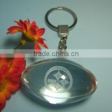 Engraved Transparent Custom Logo 3D Crystal Ball Keychain For Company Employees Christmas Gift