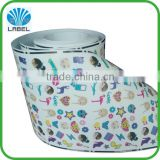 Printing Custom Adhesive Printed Waterproof Paper Cartoon Logo Labels ,Kids Sticker Rolls.