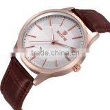 Wholeslae China goods new items dial manufacturer band gold watch for men