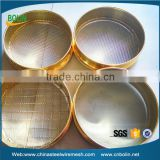 Stainless steel and brass wove wire mesh pollen sieve / laboratory filter test sieve (free sample)