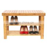 2016 Latest New Cheap 100% Natural Bamboo Shoe Rack Bench, Stool Factory&Seller&Distributot&Supplies