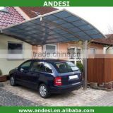 plastic roof aluminum structure car shed