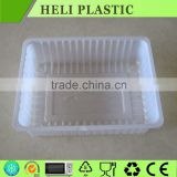 Microwave plastic food tray easy find lid food storage tray