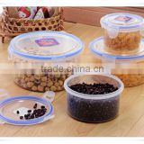 wholesale 4pcs plastic cylindrical food container set with lid all size fd022