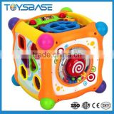 Plastic intelligent toys learning music cube box, baby learning toy