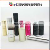 shimmer body powder brush,Professional Retractable Powder Brush With Aluminum Handle,cosmetic powder dispenser brush