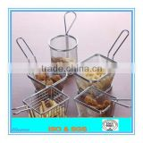 high quality stainless steel 304 mini fryer basket