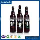 Superior blank white printed custom beer bottle label